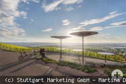 Panorama Terrasse auf dem Weinweg