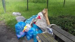 Vom städtischen Mülleimer ist zwischen all dem illegal entsorgten Haus- und Sperrmüll fast nichts mehr zu sehen