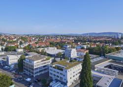 Blick auf Gewerbeimmobilien Oeffingen