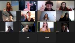 Theatermacher treffen sich digital vor den Bildschirmen