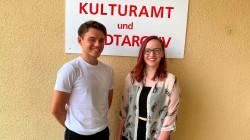 Colleen Friedrich und Daniel Jozic bilden das aktuelle Juniorteam des Kulturamtes.