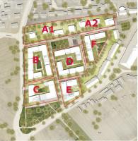 Die geplanten Baufelder auf dem alten Freibad-Areal