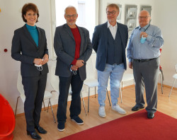 OB Gabriele Zull, Dr. Christoph Pfefferle, Ulrich Kuhn, Dr. Waldermar Ertelt