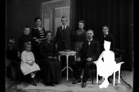 Familie Bruno Goellner um 1920 im Fotoatelier Utz