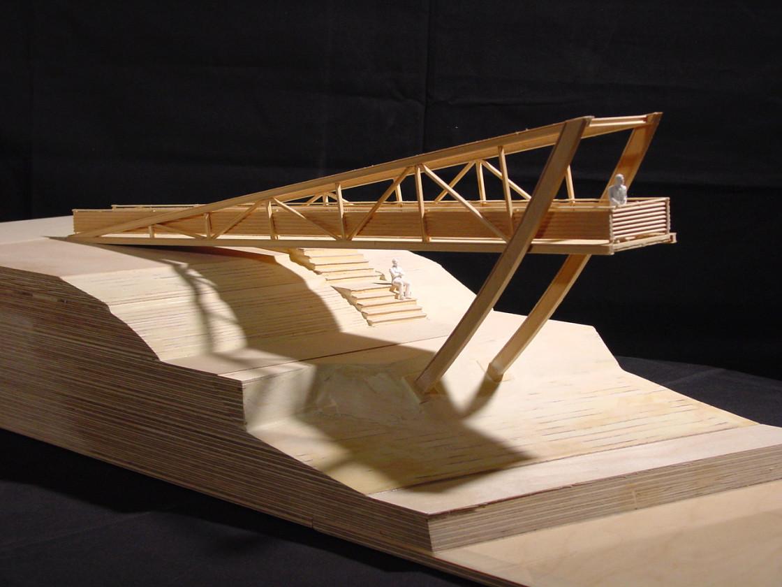 Modell der Landungsbrücke Fellbach von Claus Bury