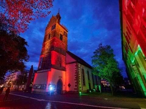 Lichtinstallation Lutherkirche