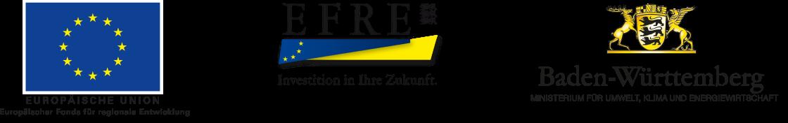 Logos der Fördermittelgeber Europäische Union und Land Baden-Württemberg